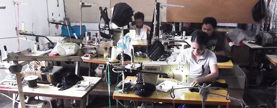 バリ島小規模縫製工場